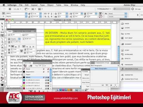 Photo of InDesign CS5 Tablolar Hücre İçi