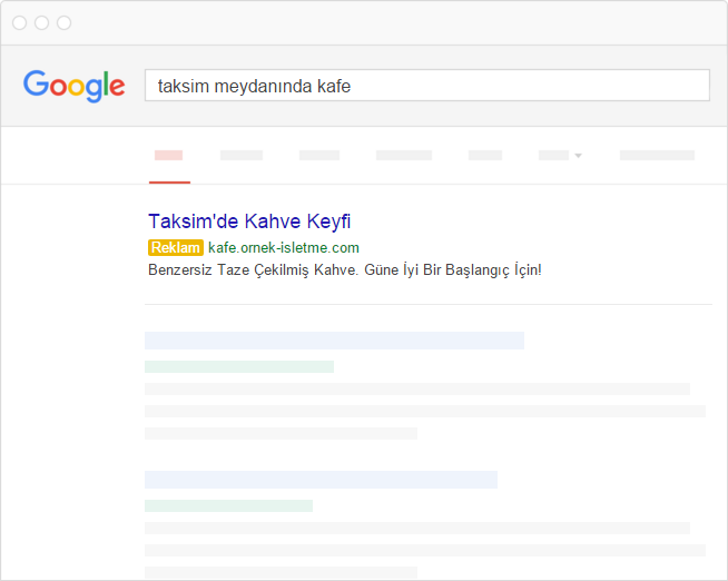 Google Adwords Görünüm